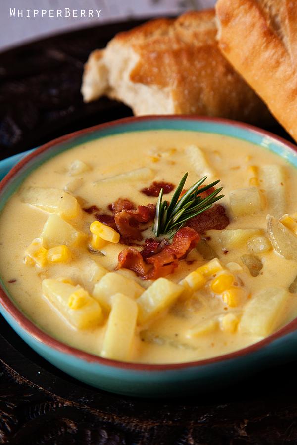 Cheddar Corn Chowder | Recipe - Whipperberry