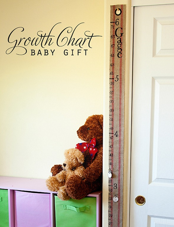 DIY Baby Gift ~ Portable Growth Chart Kit
