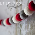 Holiday Felted Wool Garland