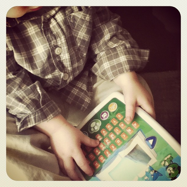 My Little Guy's New Favorite Toy… My Own Story Time Pad