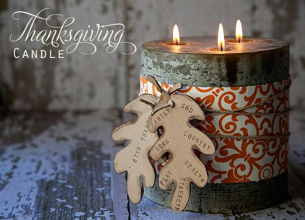 Elmers #GlueNGlitter Thanksgiving Candle