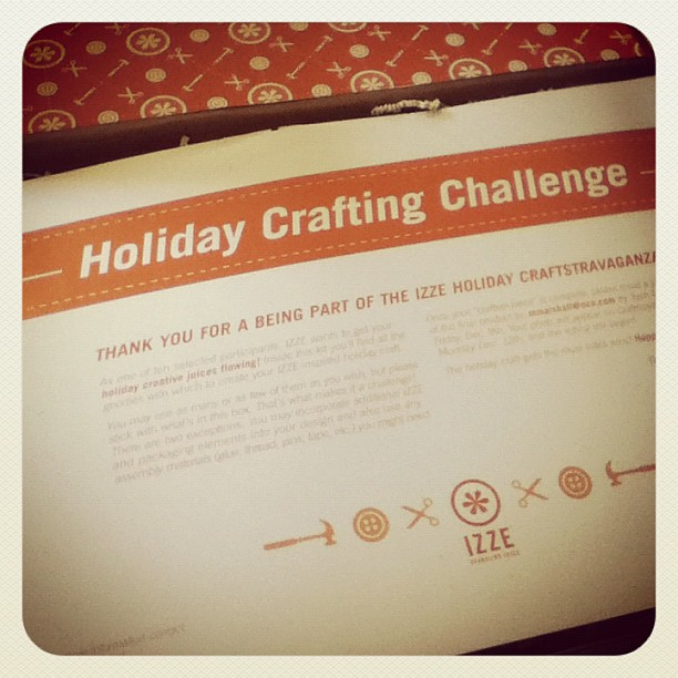 Izze Holiday Craft Challenge