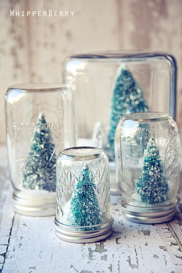 Christmas Snow Globes Diy.Anthropologie Inspired Snow Globes Tutorial Whipperberry
