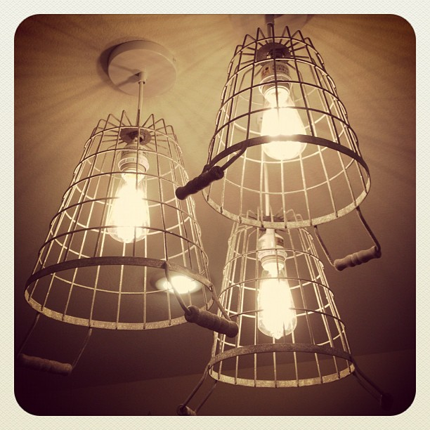 DIY Cage Pendant Light • Whipperberry