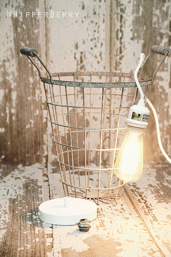 DIY Cage Pendant Light