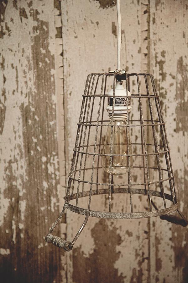 Diy cage pendant light whipperberry for Diy rustic pendant light