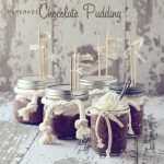 Homemade Chocolate Pudding with Chantilly Cream