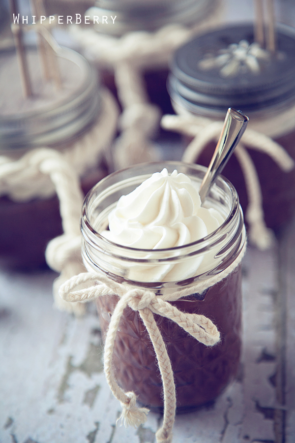 Homemade Chocolate Pudding with Chantilly Cream | Recipe in a Jar ...