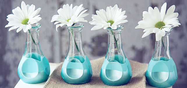 Paint Dipped Bud Vases for Mother's Day  | Martha Stewart Crafts by Plaid