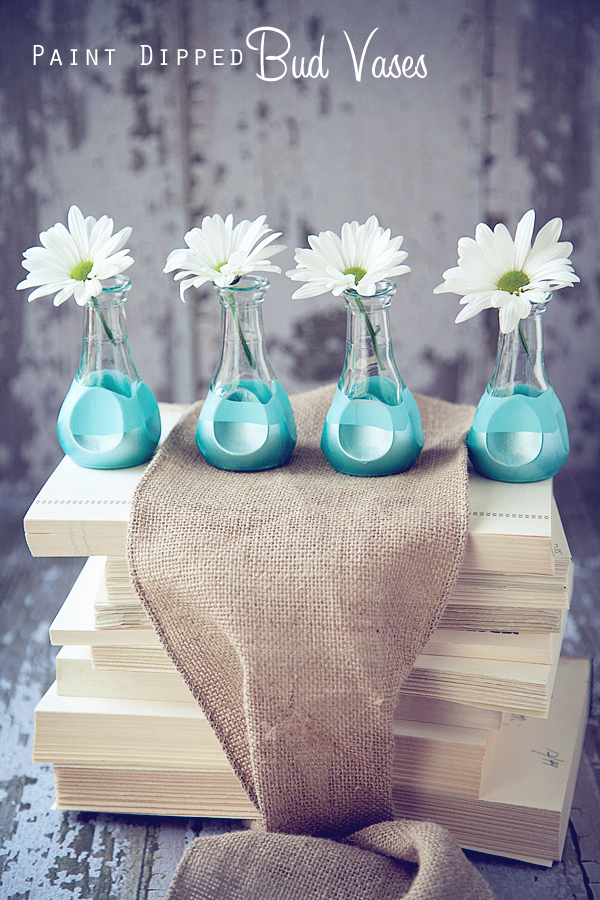 Paint Dipped Bud Vases For Mothers Day Martha Stewart Crafts By