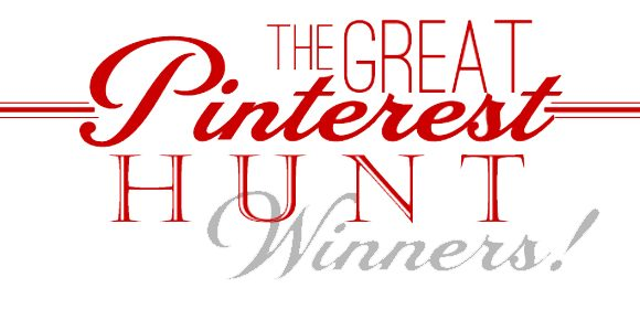 The Great Pinterest Hunt /// Winners