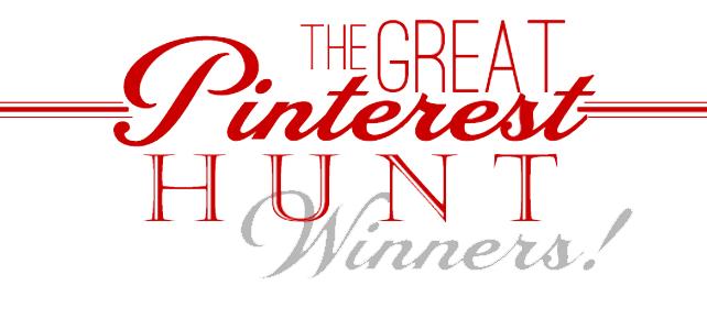 The Great Pinterest Hunt /// Winners