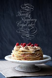 Raspberry and Biscoff Crepe Cake copy