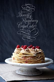 Raspberry and Biscoff Crepe Cake copy