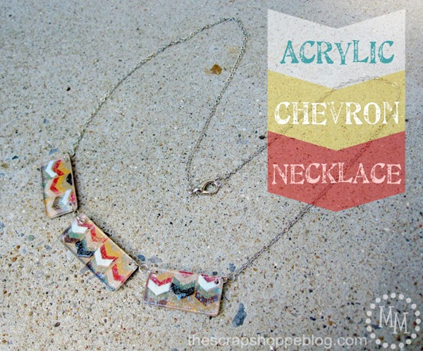 Acrylic Chevron Necklace 1