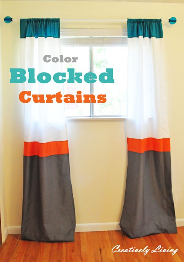 Color Blocked Curtains 3