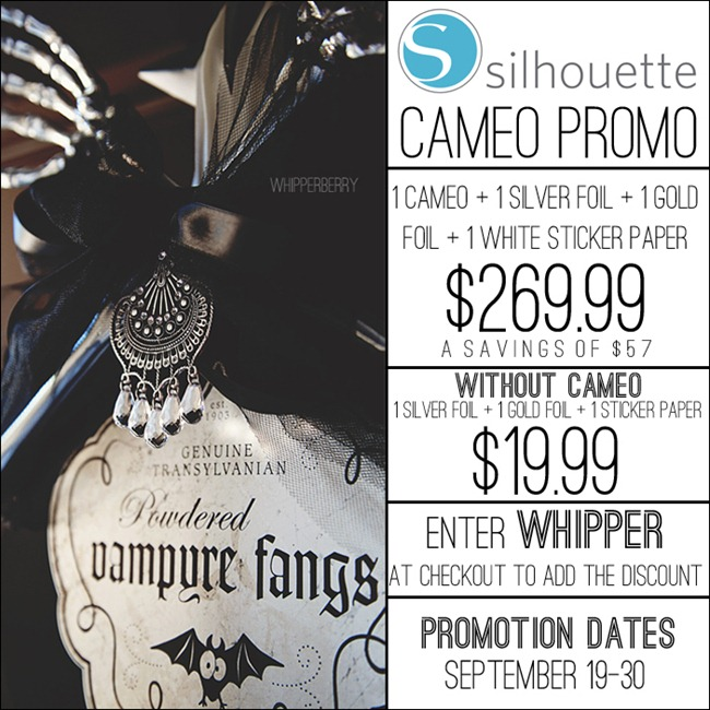 Silhouette September Promotion