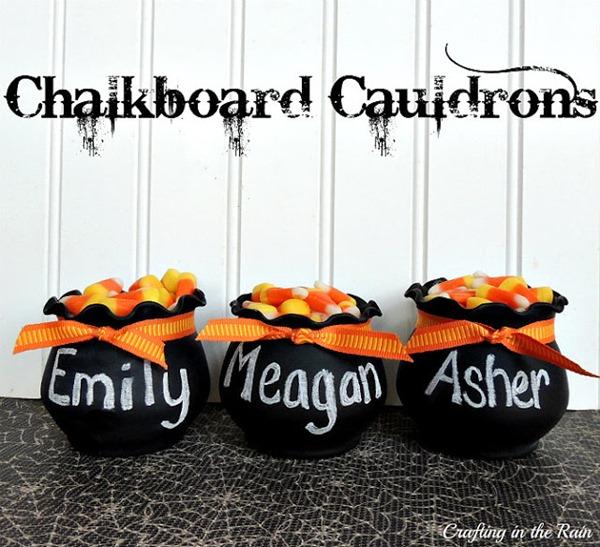 Chalkboard cauldron