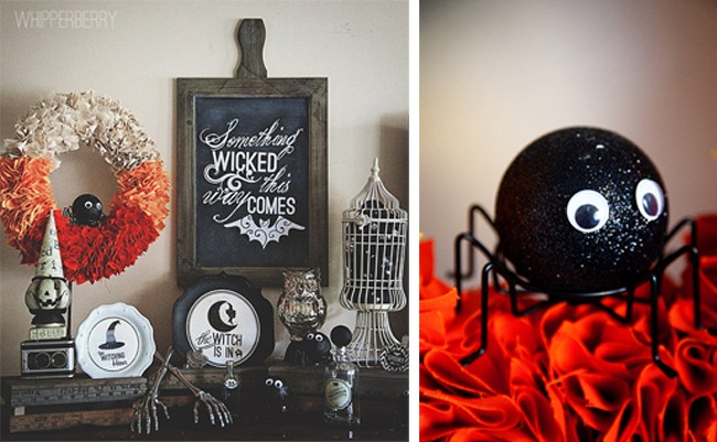 cute little spooky spider display from whipperberry - Cute Halloween Decor