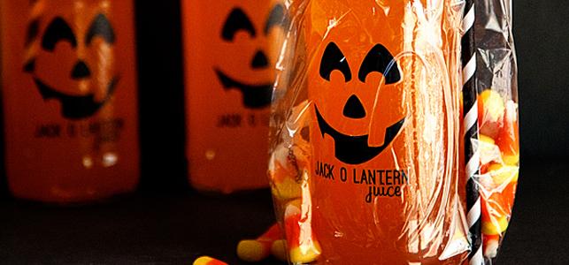 Jack-o-Lantern Juice Halloween Treat with GiftGloss