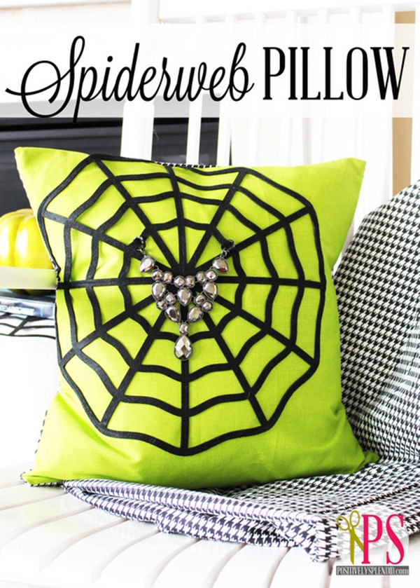 spiderweb pillow title
