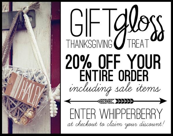 GiftGloss Thanksgiving Deal