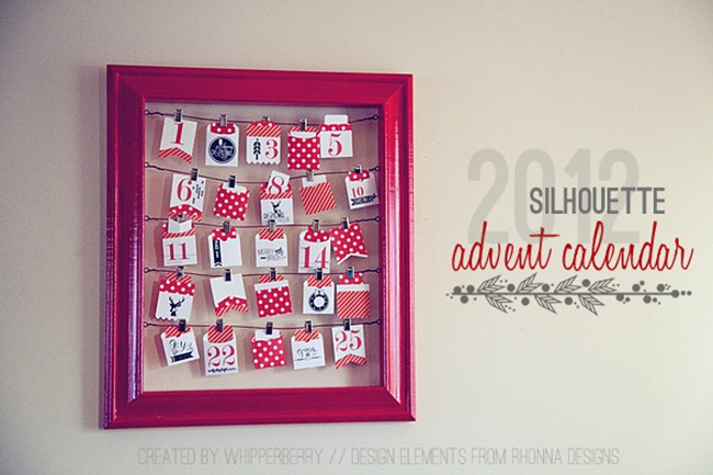 Silhouette Advent Calendar from WhipperBerry with design elements by rhonna designs