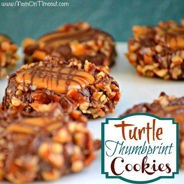 Turtle Thumbprint Cookies Squared