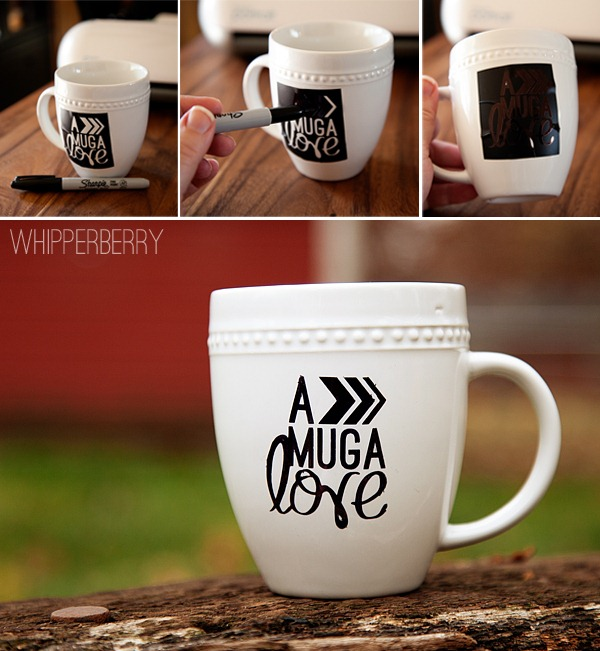 sharpie art gift set mug a love hot chocolate