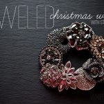 Jeweled Mini Christmas Wreath with Styled by Tori