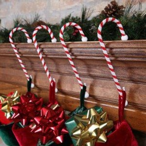 Candy Cane Stocking Hangers from The Sterling Pear