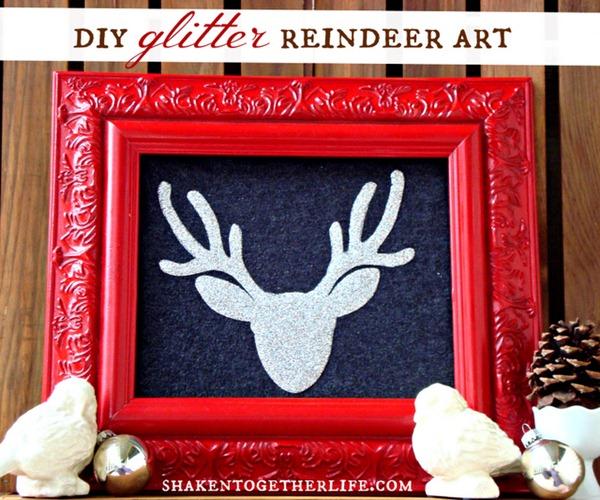 DIY glitter reindeer art main BLOG2