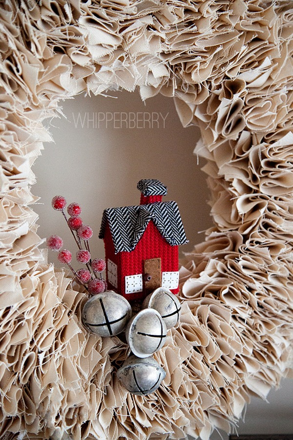 Decorate your winter white wreath with little items by Whipperberry featured on Remodelaholic.com Winter Wreaths