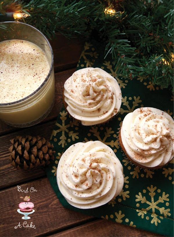 Eggnog Cupcakes with Nutmeg Frosting logo