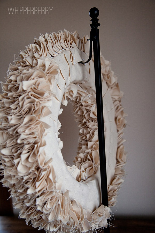How to hang your winter white wreath