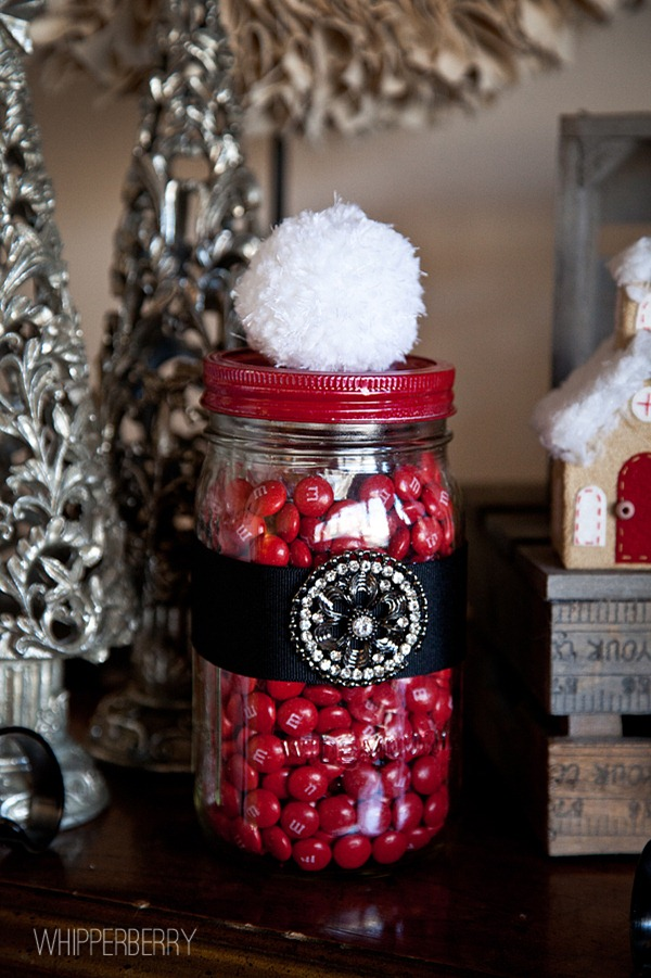 Santa Candy Jar by WhipperBerry #christmas #gifts in a jar