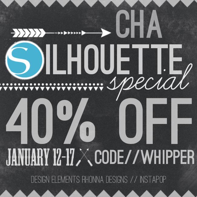 January CHA Silhouette Promo