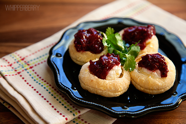 Raspberry Chili Goat Cheese Puffs