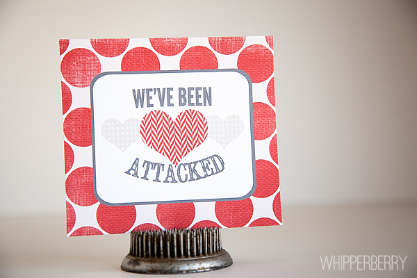 We've Been Heart Attacked by WhipperBerry #valentinesday #printable