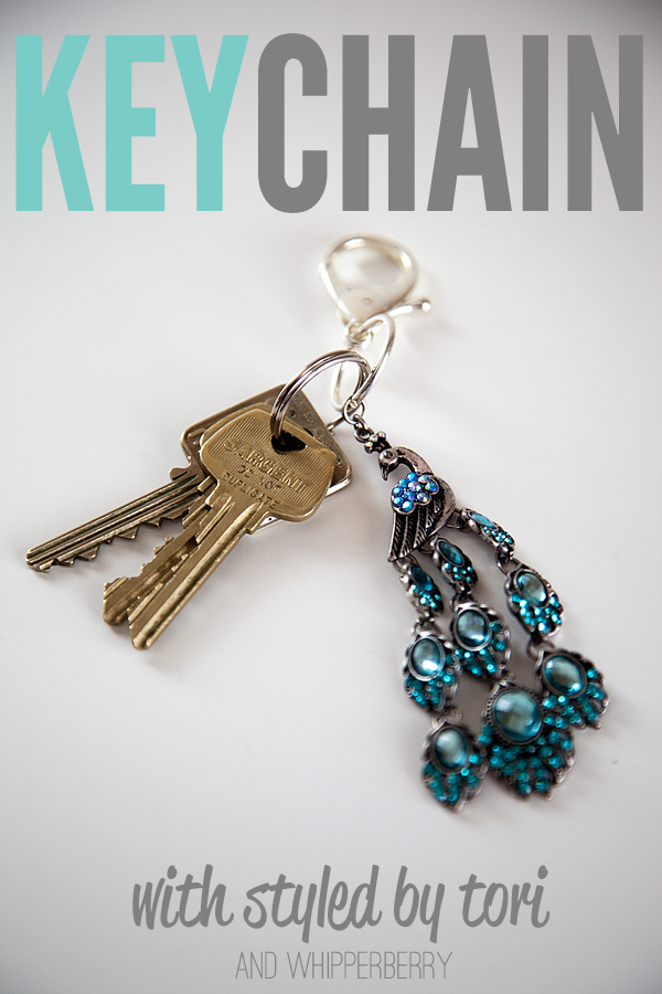 key chain with styled by tori and whipperberry