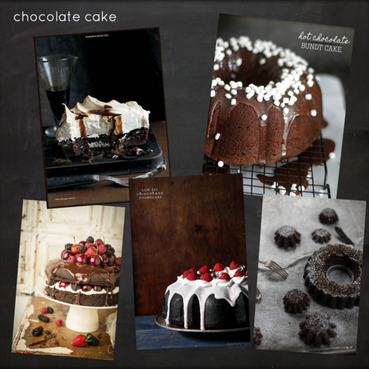 Chocolate Cake Inspiration Board