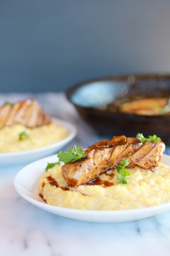 Balsamic-Orange-Glazed-Chicken-with-Creamy-Goat-Cheese-Polenta-4