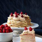 Biscoff & Raspberry Crepe Cake