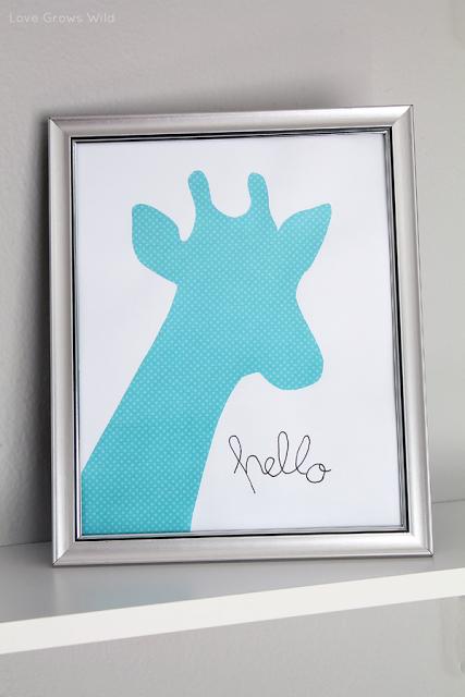 Framed_Giraffe_Kids_Art_by_Love_Grows_Wild_1