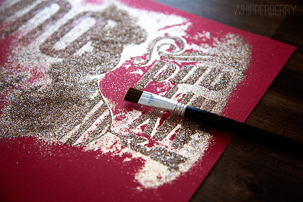 glitter with silhouette double sided adhesive