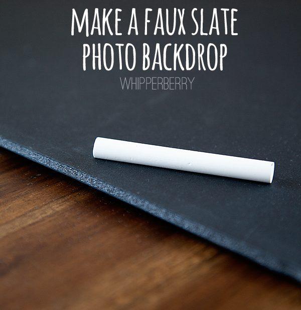 DIY Faux Slate Chalkboard Photo Background