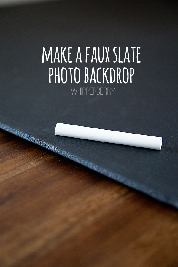 DIY Faux Slate Chalkboard Photo Background