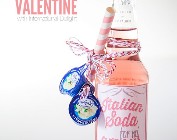 Italian Soda Valentine with International Delights