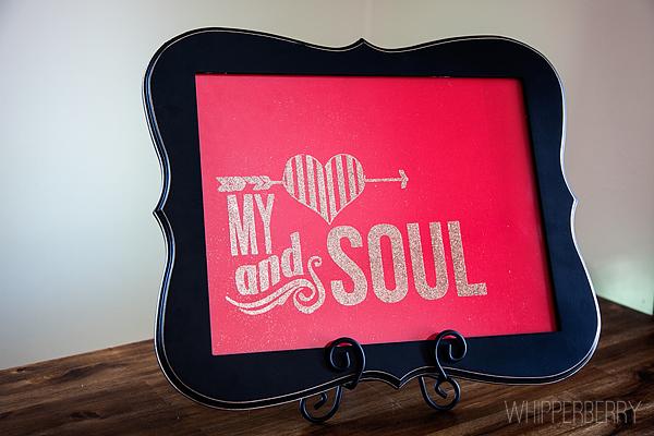 My heart and soul glitter art