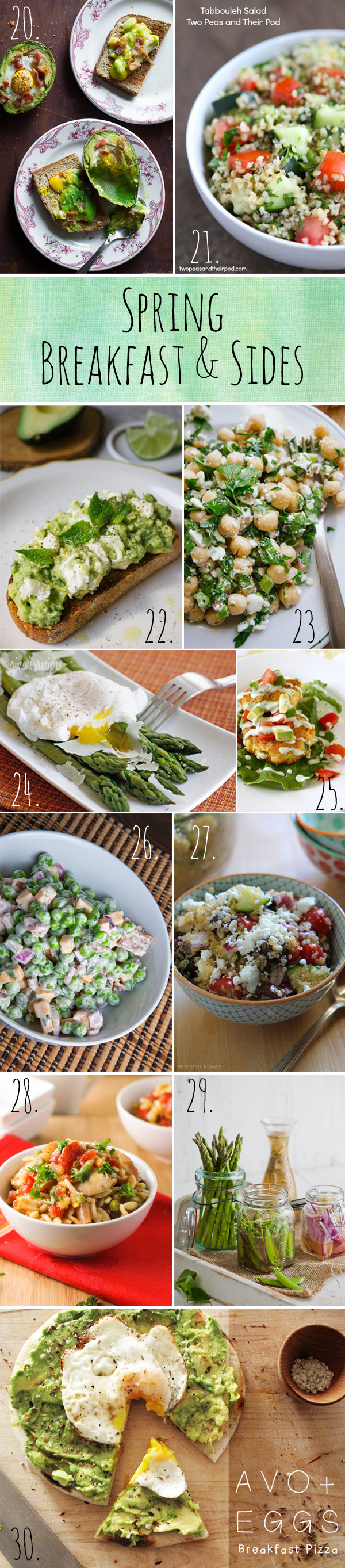 Spring Breakfast & Sides Recipes
